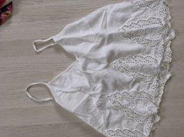 Hollister Lace Top white cotton