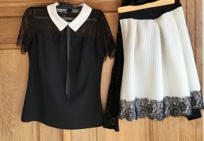 Zuiki Koronkowy top czarny-w kolorze białej wełny
