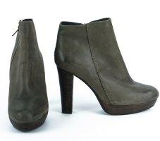 SPM Stiefelette,Leder,braun-grün.Gr. 37,Absatz 10cm ,Neu!!!,sehr schön!!!NP107€