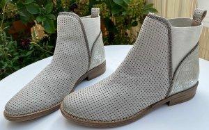 SPM Shoes & Boots Bottines à enfiler gris clair-argenté cuir