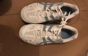 Asics Sznurowane trampki biały-niebieski