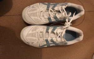 Asics Lace-Up Sneaker white-blue