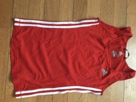 Adidas Débardeur de sport rouge