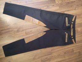 Sportalm Pantalón de equitación marrón arena-azul oscuro