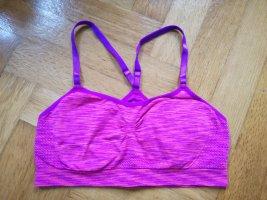 SportBH mit Cups (Pink/Violett)