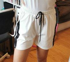 SheIn Sport Shorts white-black