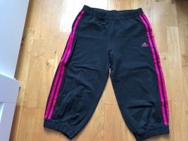 Sporthose von Adidas dunkelgrau pink Größe 164 xs s 32 34 dreiviertelhose Hose