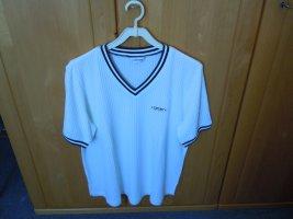 Sportives lässiges Shirt in Rippenstrick  Gr. 46  weiss