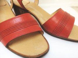 Sportliche Leder Sandalette,  Marke Jeannot. Made in Italy. Farbe: Rot.