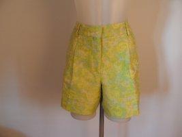 Sportmax Code Bermudy żółty neonowy Cupro