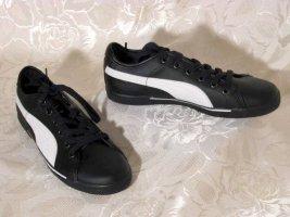 Sportschuhe Sneaker Turnschuhe Gr. 37,5 PUMA Benecio Schwarz Weiß