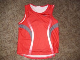 Asics Sports Shirt red polyester