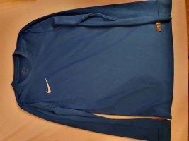 Sportshirt Nike Langarm Blau Dri Fit in S
