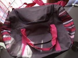 Borsa sport grigio-rosa