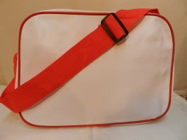Sac de sport blanc-rouge tissu mixte