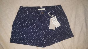 Springfield Hot pants bianco sporco-blu scuro Cotone