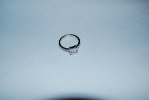Square light white Ring von Esprit Gr. 16 / 56  silber mit synth. Stein
