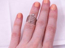 Stacking Ring, Spiral-Ring, mit Strass-Steinchen