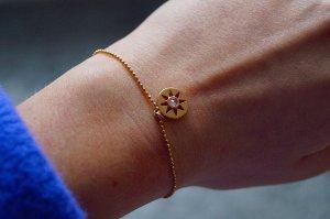 Star des Lebens Armkette aus Silber