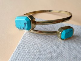 Statement Armband Gold Blau Armschmuck Schmuck