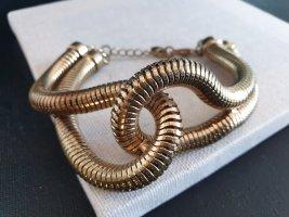 Statement Armband Goldfarbig Gedreht  Armschmuck