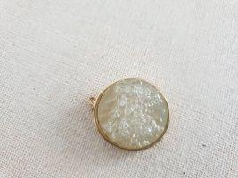 Breloczek złoto-jasnobeżowy