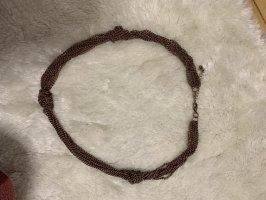 Accessoires Zdobiony naszyjnik brązowy