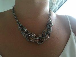 Luna Statement Necklace rose-gold-coloured-light grey