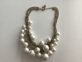 Statement Necklace bronze-colored-natural white