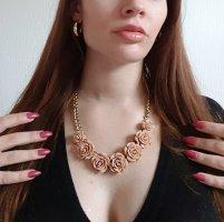 Statement Kette mit Rosen Gold Vintage