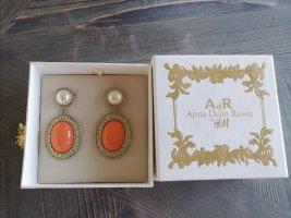 Ana Alcazar Statement Earrings gold-colored-orange