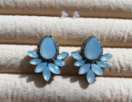 Statement Ohrringe himmelblau babyblau blau