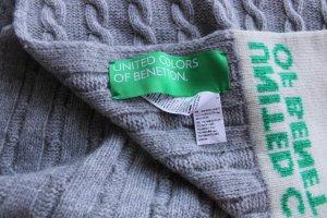Benetton Écharpe en laine multicolore laine