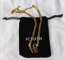icrush Cadena de cuentas color oro