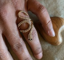 Bijou Brigitte Statement Ring gold-colored-black