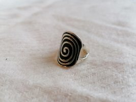 Statement Ring black-silver-colored
