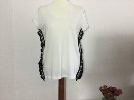 Steffen Schraut T-shirt bianco-nero Cotone