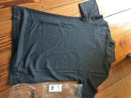 Drykorn Camisa de cuello de tortuga gris antracita lyocell