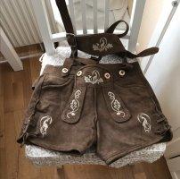 Original Steindl Pantalón de cuero color bronce Cuero