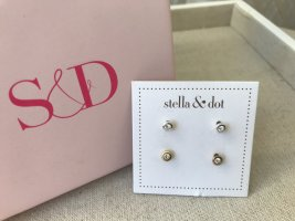 Stella & Dot Ear stud gold-colored-silver-colored