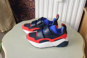 Stella McCartney Basket hook-and-loop fastener bleu-rouge brique tissu mixte