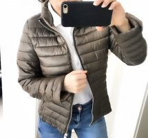 Mango Quilted Jacket green grey