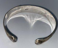 925er Silber Bracelet de bras gris clair tissu mixte