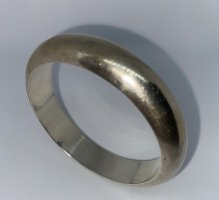 925er Silber Bangle light grey mixture fibre