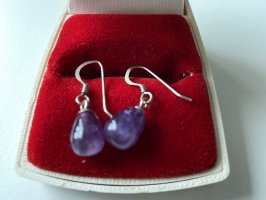 Sterling - Silber - Ohrringe mit Amethyst - Ohrhänger