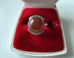 STERLING - Silber - Ring mit Carneol