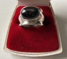 STERLING - Silber Ring mit einem schwarzen STERN-Achat - massiv