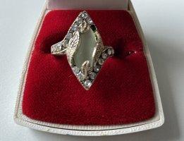 925er Silber Anneau avec pierre decorative multicolore tissu mixte