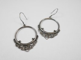 handmade unikat Silver Earrings silver-colored