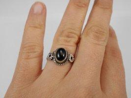 Sterlingsilber Ring mit Onyx-Stein, Onyx Ring 925er Silber